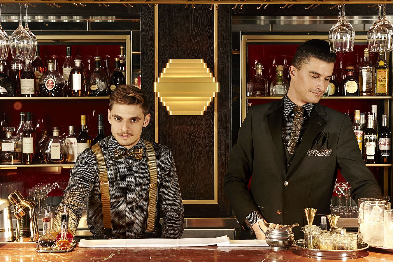 quaglino s of fair d d london pillars house uniforms the bar manager and barback in their studio 104 uniform