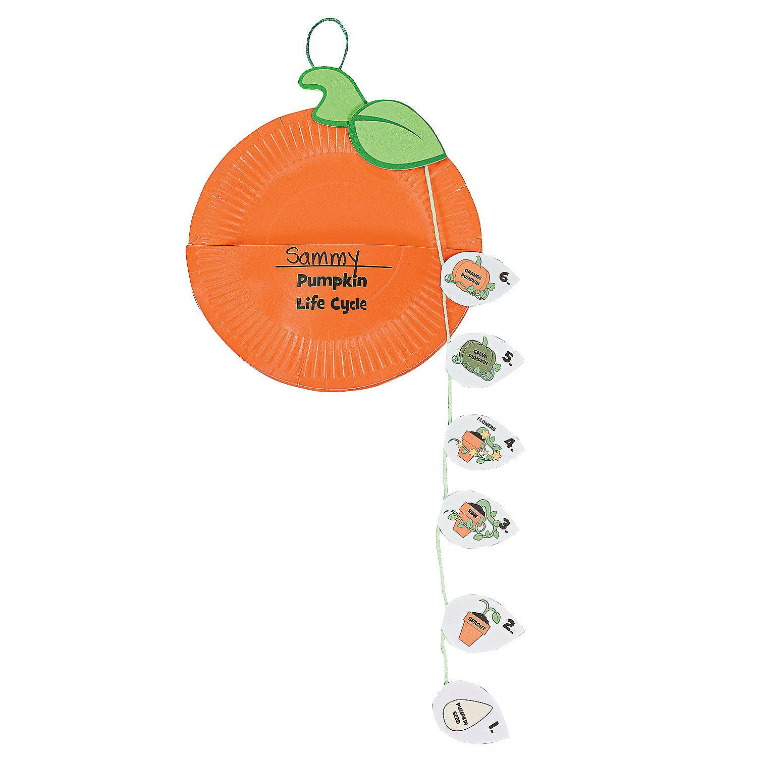 Kids halloween craft kits - Paper Plate Pumpkin Life Cycle Craft Kit Orientaltrading Com