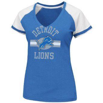 free shipping b93cb f9b06 Amazon.com: NFL Detroit Lions V-Neck Tee, Medium: Clothing ...