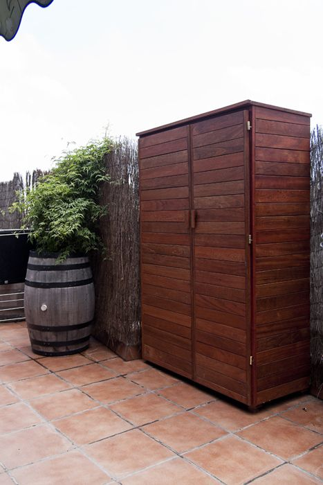 armarios exterior terraza  Buscar con Google  armairua  Muebles para patio Armario de madera y Armario madera exterior