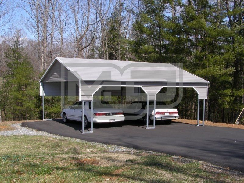 Carport Boxed Eave Roof 22W x 26L x 8H` 2 Gables 2