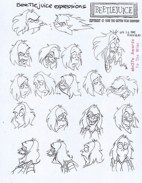 Beetlejuice Cartoon Lydia Beetlejuice Cartoon Character Model Sheet Cartoon Character Design
