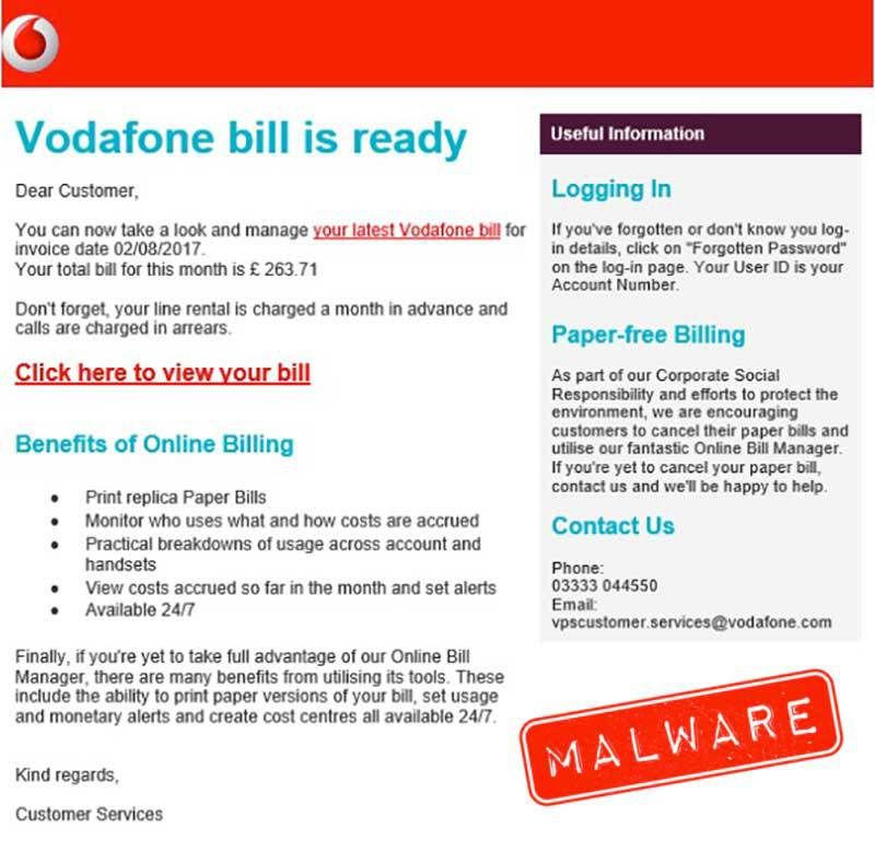 Vodafone customers should watch out for fraudulent emails claiming vodafone customers should watch out for fraudulent emails claiming that their vodafone bill is ready thecheapjerseys