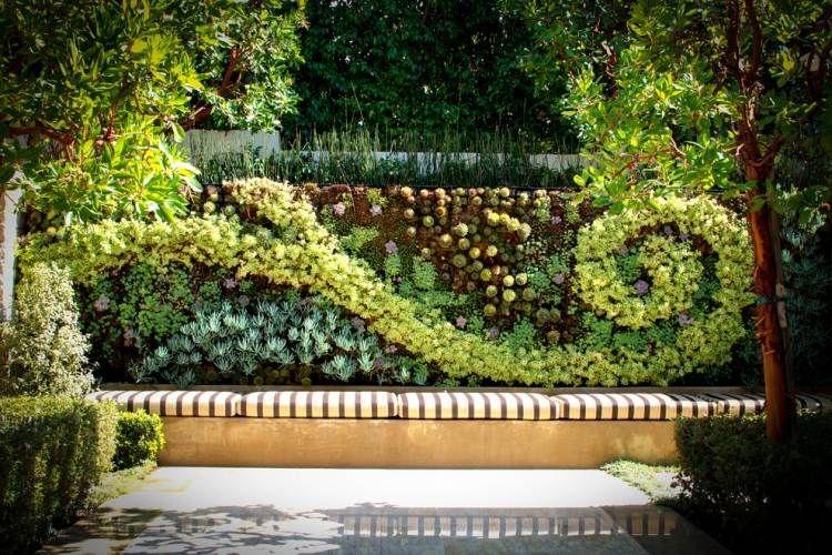 moderne-gartenkunst-vertikaler-garten-sichtschutz-pflanzen | haus, Gartenarbeit