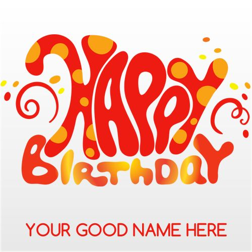 Write Name On Happy Birthday Card And Send Whatsapp