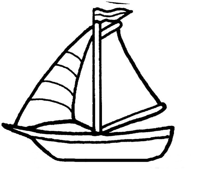 B For Boat Walking By The Way Coloring Pages For Kids Coloring Pages Boat Crafts