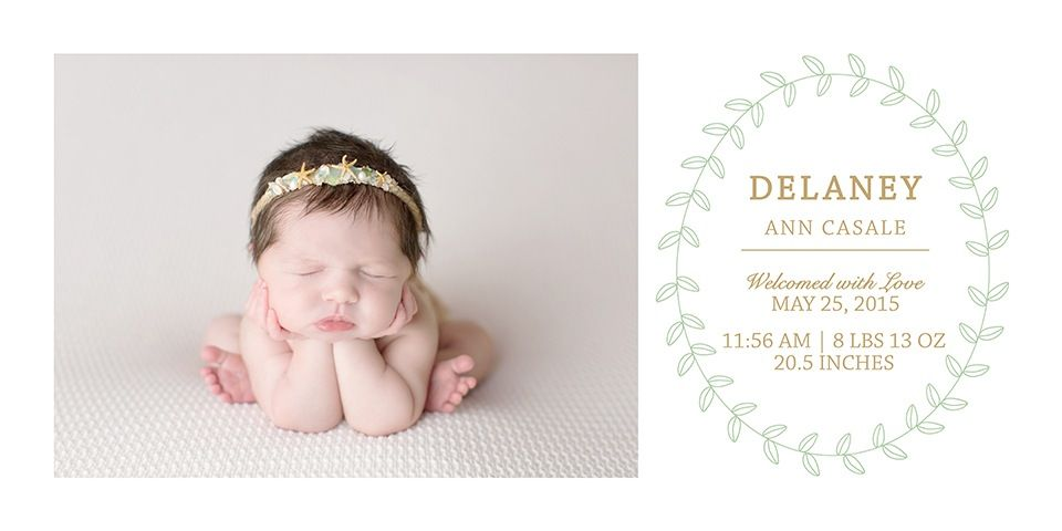 Birth announcement storyboards allow you to create a product for
