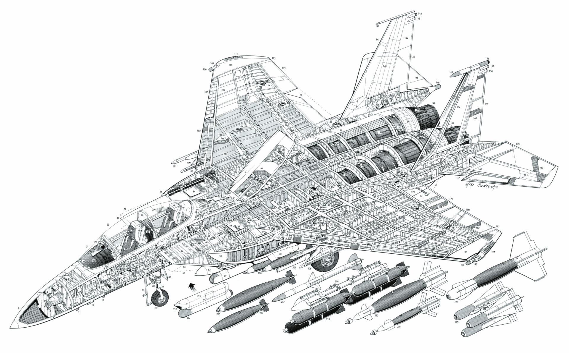 Military Schematic Aircraft McDonnell Douglas F-15E Strike Eagle Wallpaper  | Aircraft design, Airplane design, Vintage aircraftPinterest