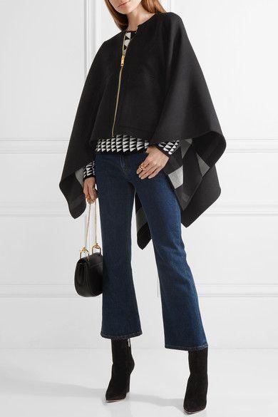 Burberry - Asymmetric merino wool poncho