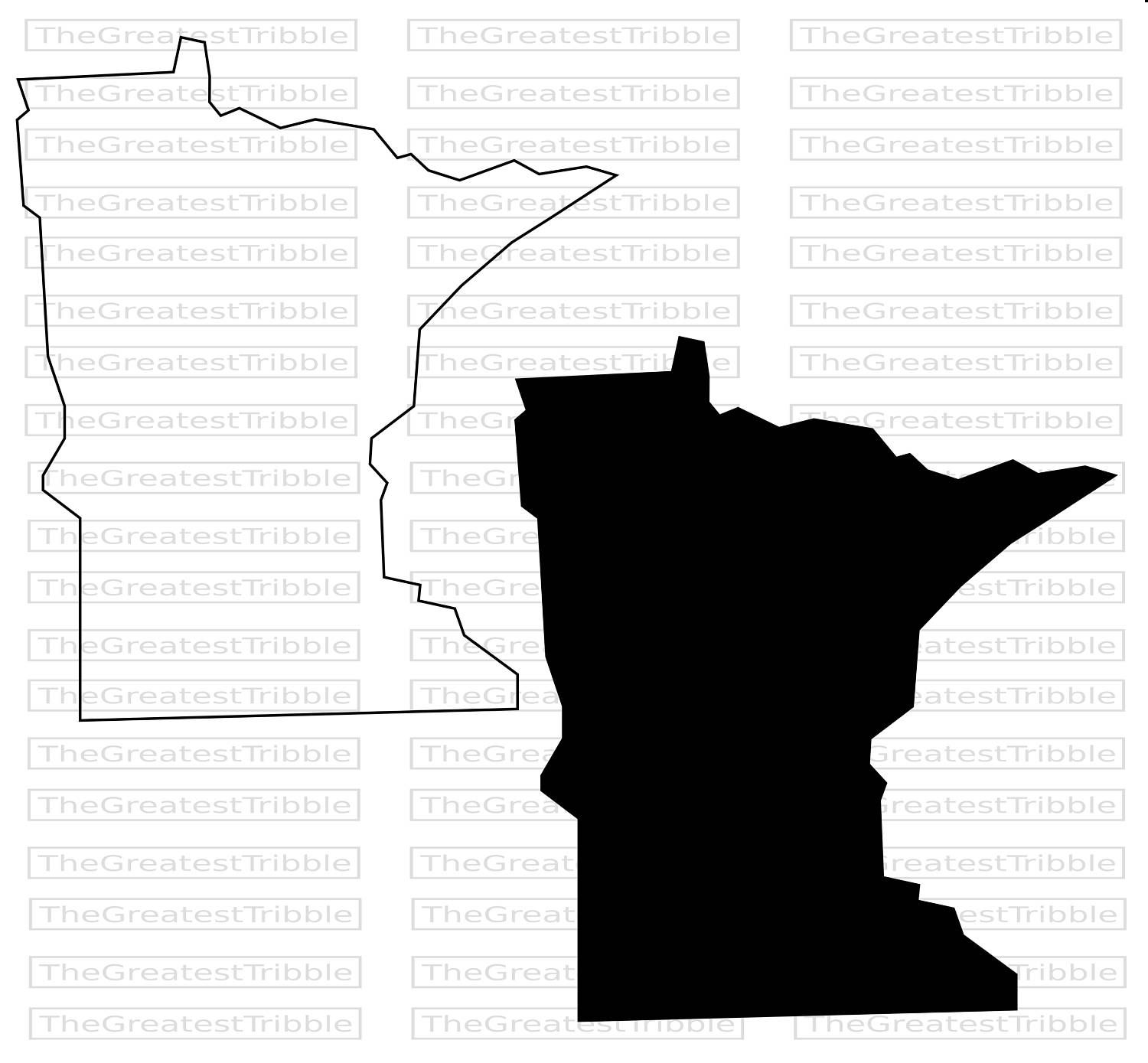 Minnesota State Map SVG PNG JPG Vector Graphic Clip Art Minnesota State  Outline By TheGreatestTribble On