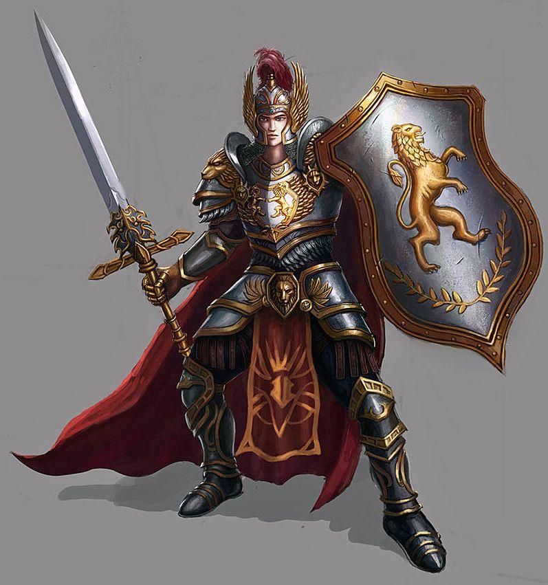 m Paladin Plate Armor Shield Helm Cloak Sword   Fantasy armor, Epic art, Knight armor