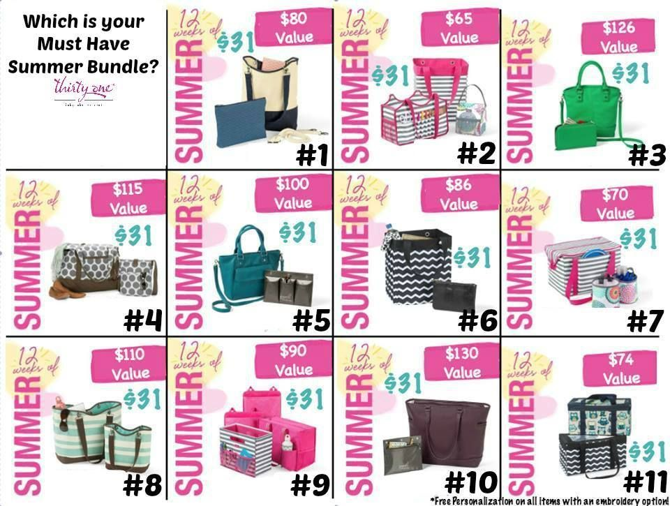 12 weeks of Summer!! Party the right way!! www.mythirtyone.com/yourbagqueen