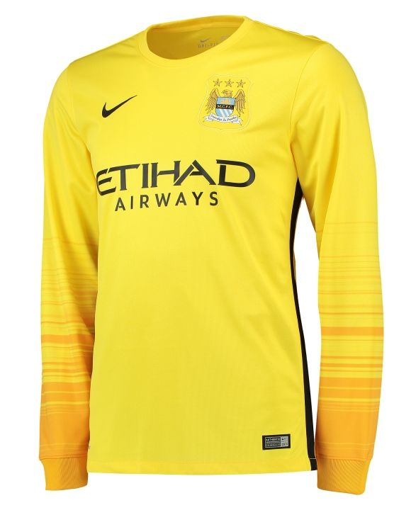 wholesale dealer 6eca5 53254 Yellow Man City Goalkeeper Shirt 15 16 | MANCHESTER CITY ...