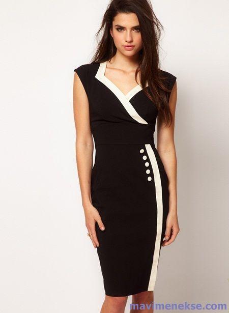 b4d58c0f19063 Yazlık Kıyafetler, Resmi Elbiseler, Kadınlara Özgü Moda, Siyah Önlük, Kısa  Elbiseler,