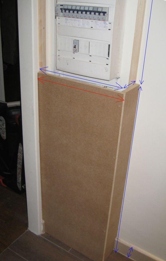 coffret cache compteur lectrique entr e diy radiator. Black Bedroom Furniture Sets. Home Design Ideas