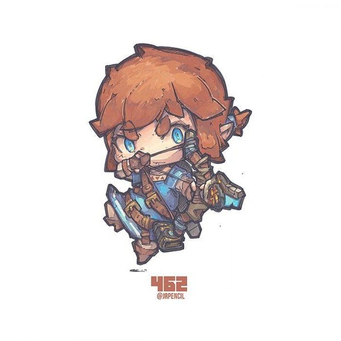 Zelda Breath Of The Wild Dessiner Link En Version Chibi