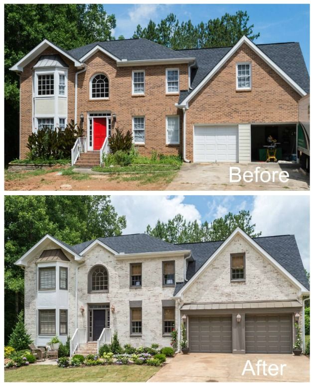 View Page Ply Gem Featured On Fox S Home Free Ply Gem Corporate Brick Exterior House Painted Brick House Home Exterior Makeover
