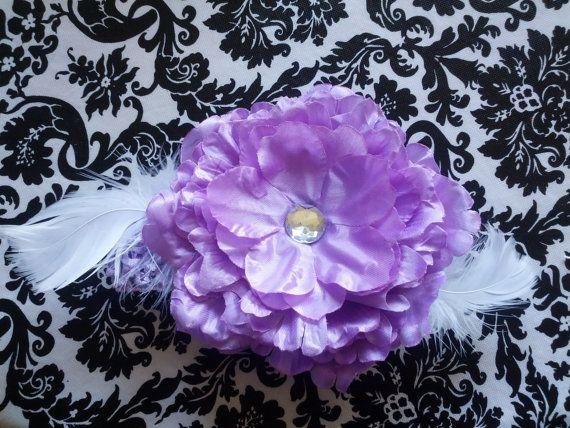 Beautiful violet bling baby headband by LisasHeavenlyDesigns, $10.00