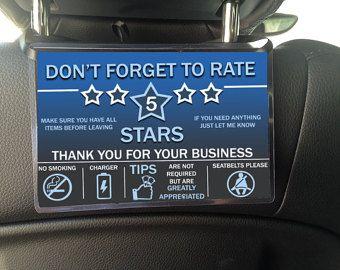 Uber Lyft Rideshare Sign For Passengers By Ashmcg15 On Etsy