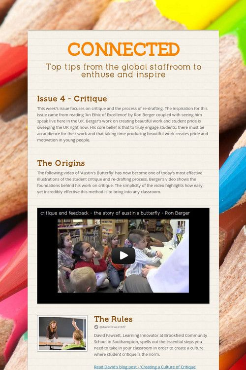 CONNECTED Education Pinterest