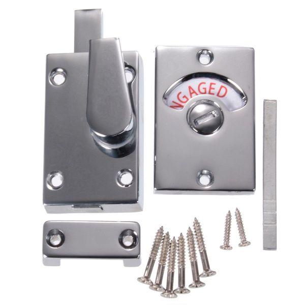 Bathroom Toilet Wc Indicator Privacy Dead Bolt Door Lock Vacant Engaged Satin Nickel Lock Screws Wish Chrome Bathroom Toilet Door Bathroom Toilets