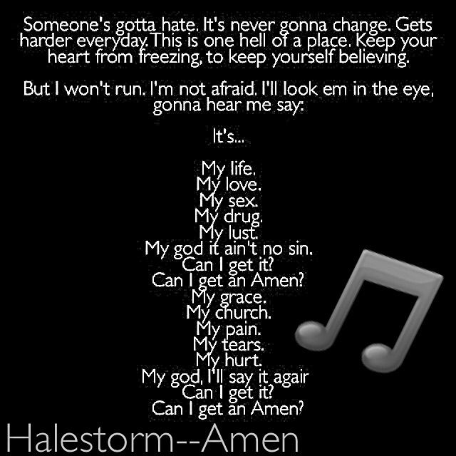 Amen Halestorm Sometimes There S No Reason To Justify The