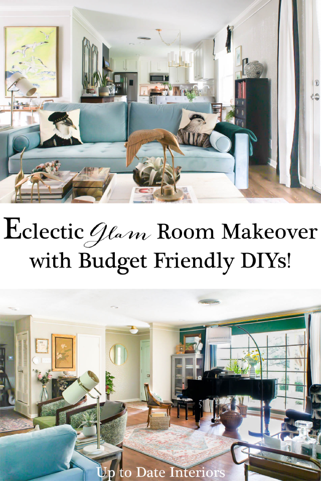 Eclectic Glam Open Concept Living Dining Rooms Reveal Up To Date Interiors Luxury Living Room Open Concept Kitchen Living Room Living Dining Room #open #concept #dining #room #living #room
