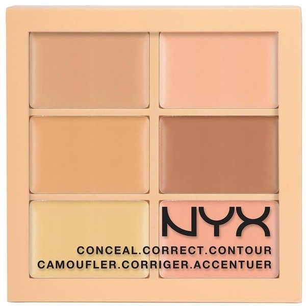 Nyx Professional Makeup Color Correct Palette ConcealCorrectContour... (36.510 COP) ❤ liked on Polyvore featuring beauty products, makeup, face makeup, concealer, beauty, contour, cosmeticos, light, nyx and nyx concealer