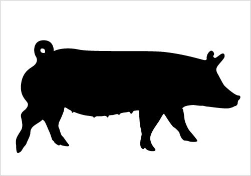 Pig Silhouettes For Farm Vectors Silhouette Graphics