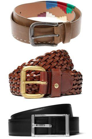 Básicos: Cinturon cafe, negro, color.