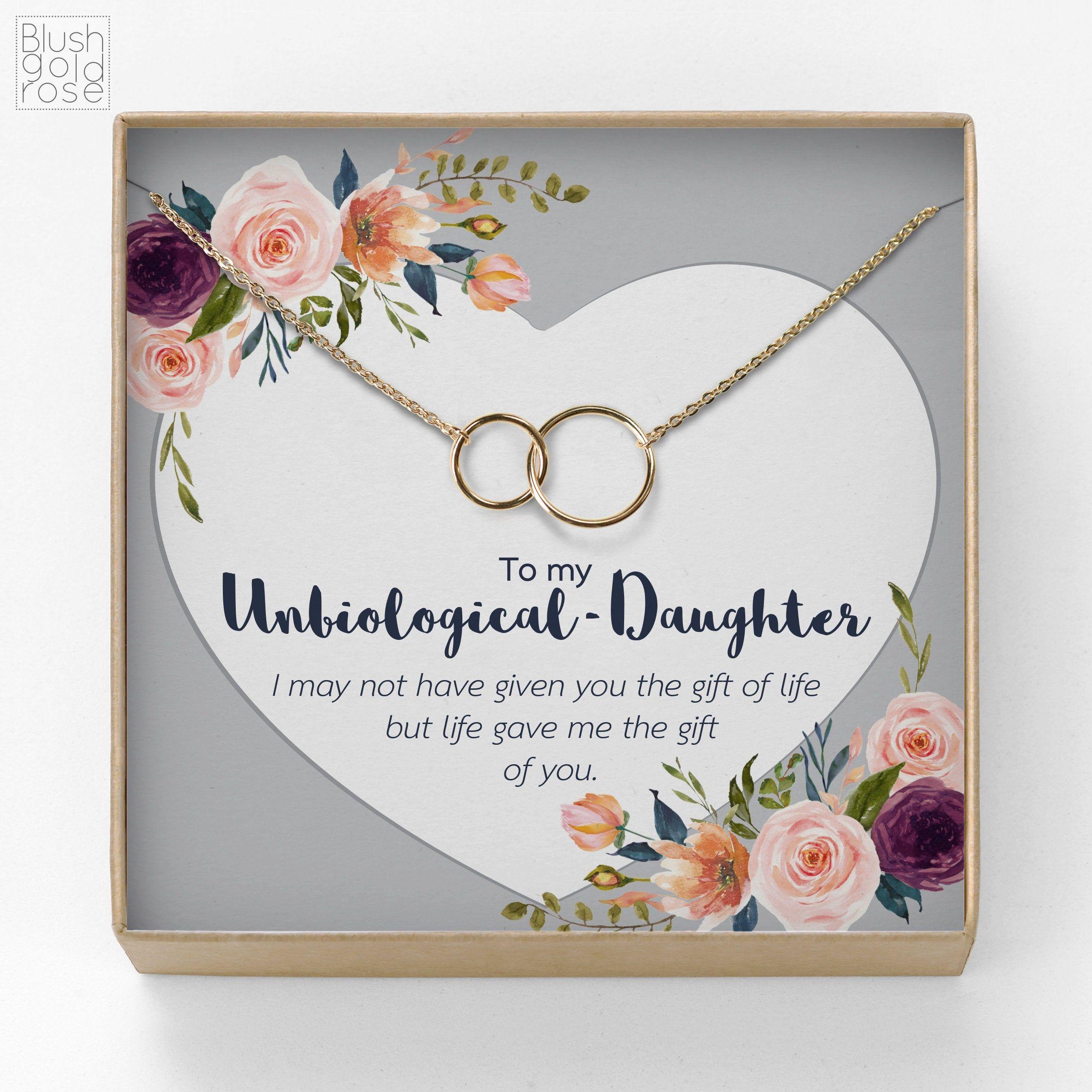 Bonus daughter gift interlocking circles necklacelinked