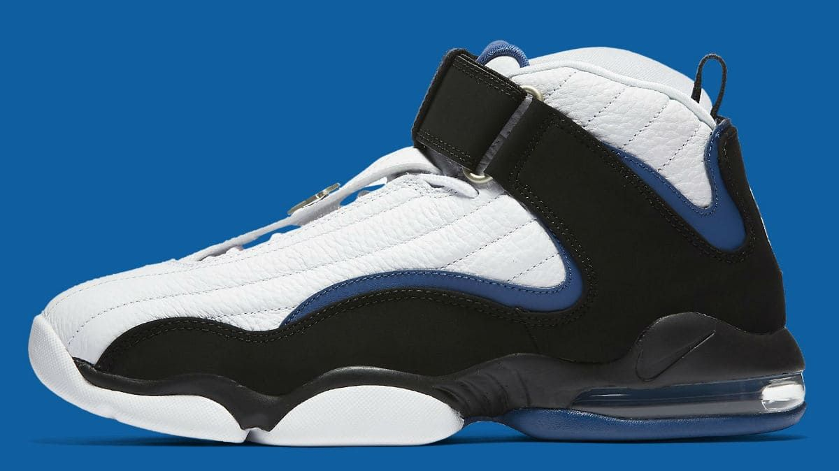 ee3eaeaf9dd5 ... Nike Air Penny 4 OG White Black Blue Release Date Profile 864018-100 ...