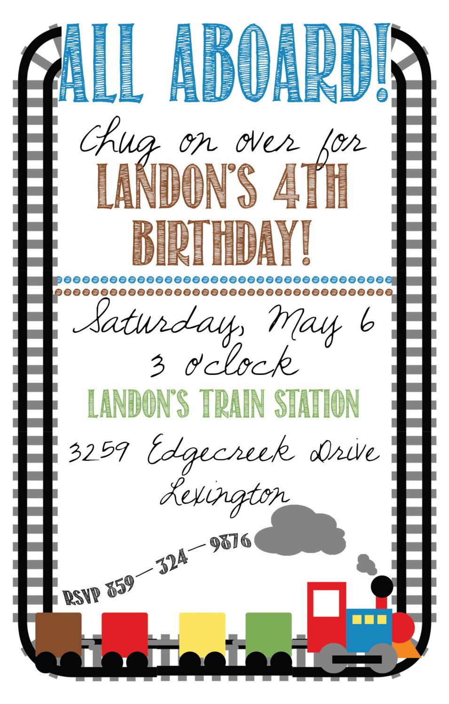 Train Birthday Invitation. $12.99, via Etsy. | We Like to Party ...