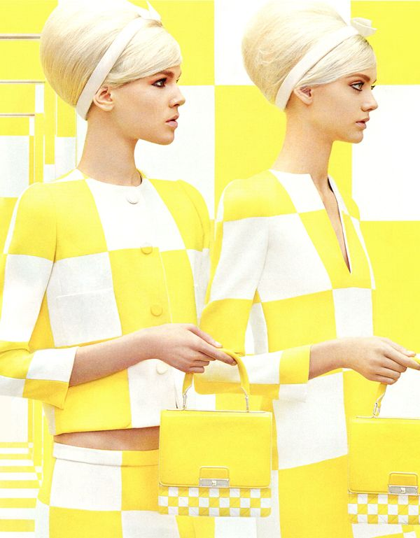 Ruby Jean Wilson and Nastya Kusakina by Steven Meisel for Louis Vuitton Spring/Summer 2013