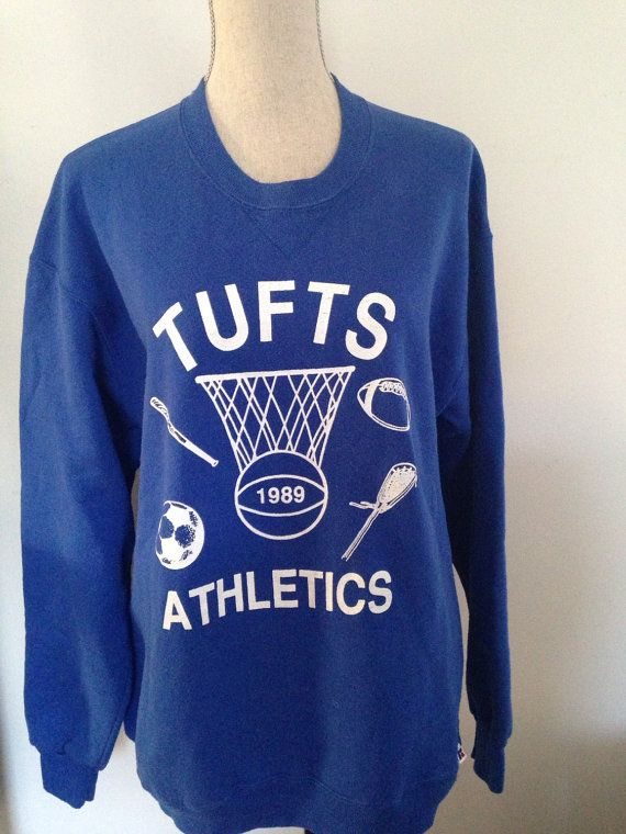 Vintage Tufts University 1989 Athletics Sweatshirt by 21Vintage e4b63c522