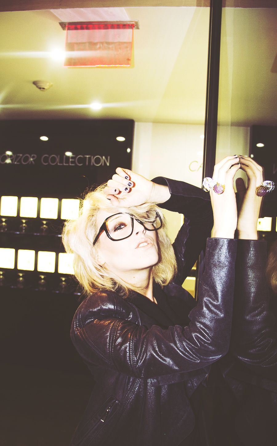 Oversize nerd retro square clear lens glasses