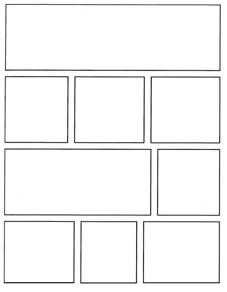 Comic Board Template  Cerca Con Google  Comics