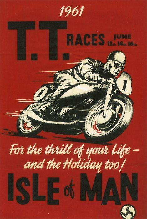 Tt Races 1961 Poster by Georgia Fowler is part of Vintage motorcycle posters - Tt Races 1961 Poster by Georgia Fowler   All posters are professionally printed, packaged, and shipped within 3  4 business days  Choose from multiple sizes and hundreds of frame and mat options