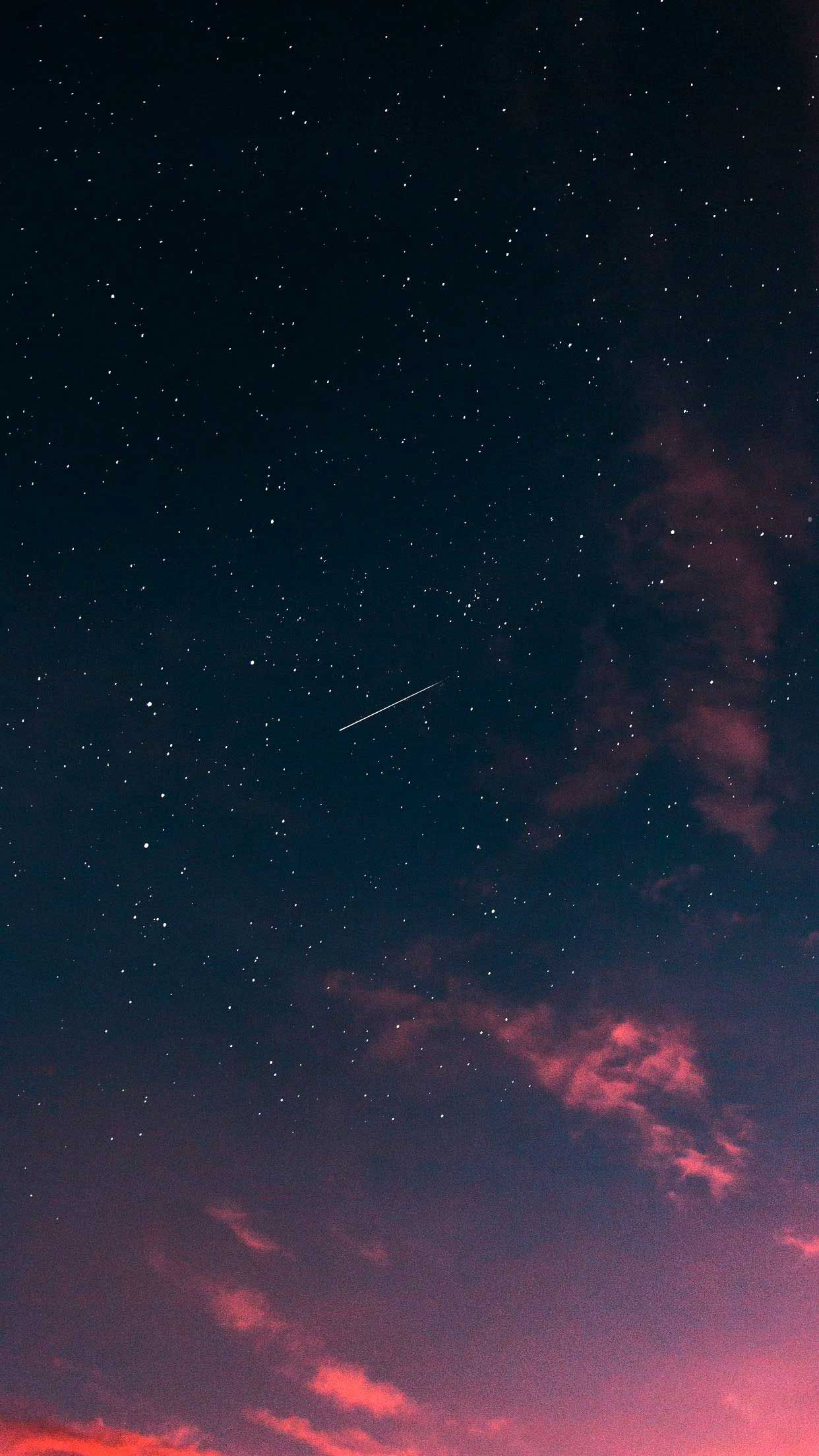 Starry Sky Clouds Sunset Iphone Wallpapers Hd Iphone Wallpaper Sky Sunset Iphone Wallpaper Iphone Wallpaper Night Sky