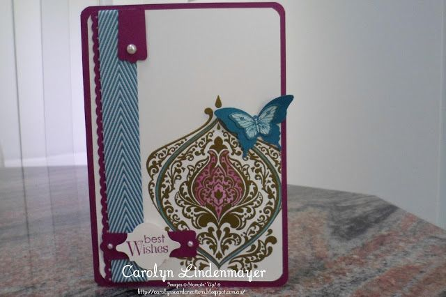nikki spencer stampin up | Carolyn's Card Creations: Just Add Ink 179 - Sketch Challenge - Gold ...