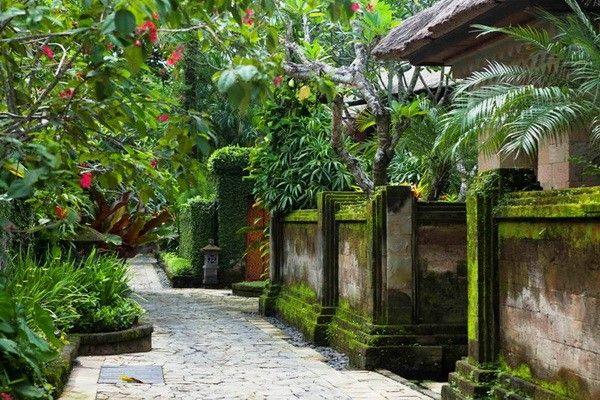 Bali beach garden design balinese gardens pinterest for Bali landscape design
