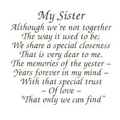 A Short Poem About Sister