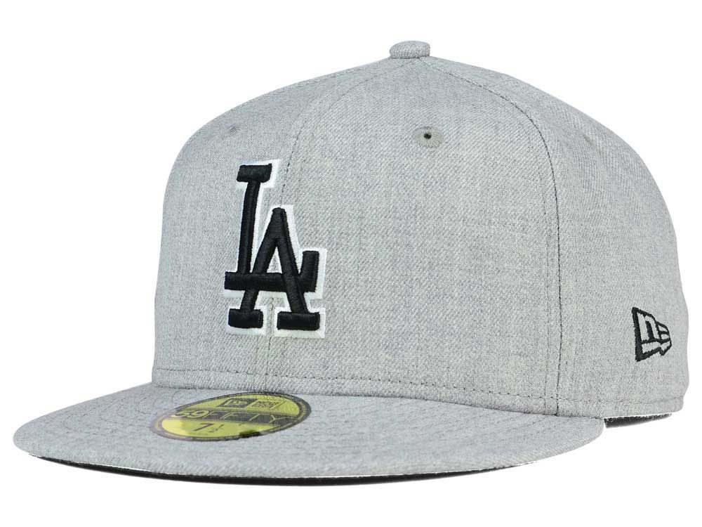cheap for sale get new in stock Los Angeles Dodgers New Era MLB Heather Black White 59FIFTY Cap ...
