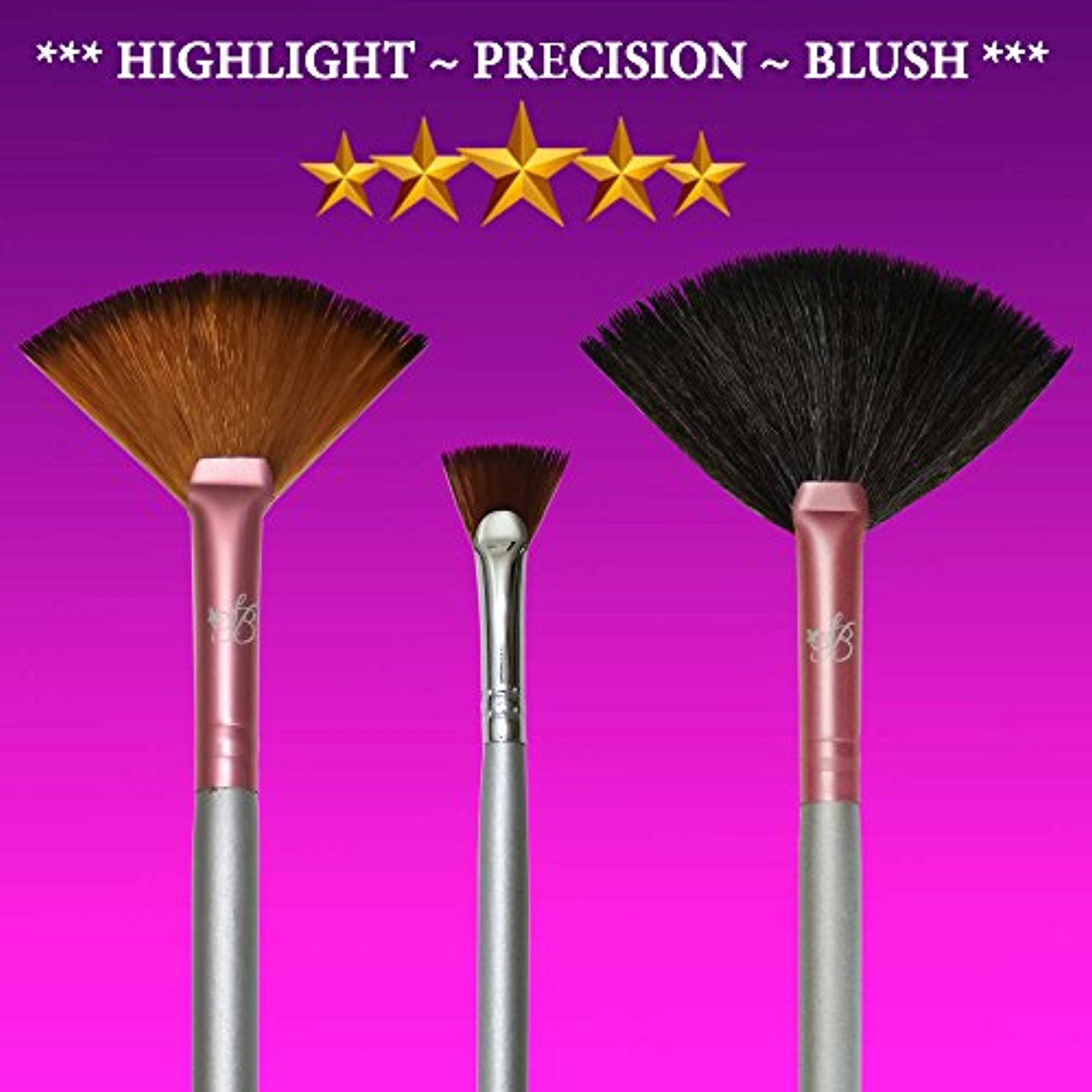 Fan Brush Set for Highlighter MakeupBrushesTools Fan