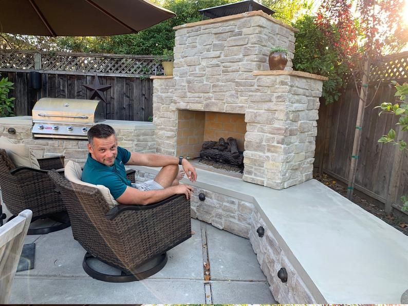 Elliott Fireplace And Grill Diy Construction Plan Outdoor Fireplace Patio Outdoor Fireplace Plans Backyard Buildings