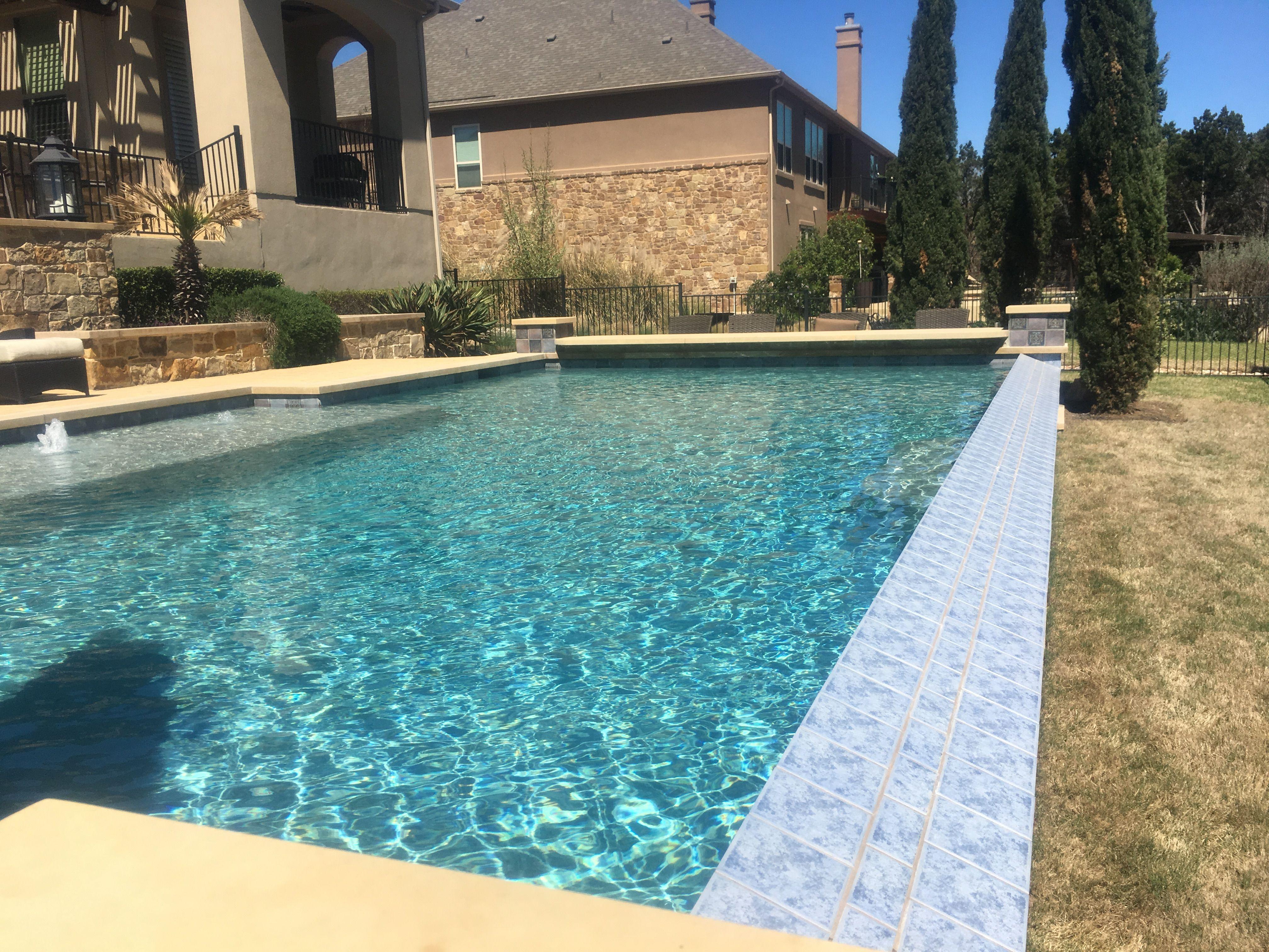 Pond Springs Custom Pools Formal pool, clean, classy edges ...