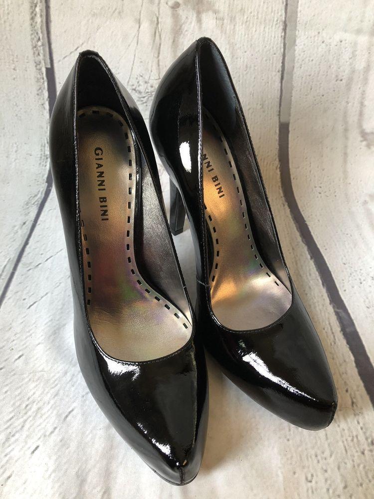 3d3ae7e871c Gianni Bini Womens Black Patent Leather High Heels 9.5 M Sexy Stilleto New  NIB