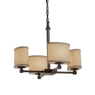 Shop for Justice Design Group Textile Tetra 4-light Bronze Chandelier. Get free…