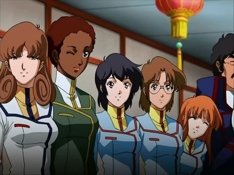 Las chicas de el puente de mando de Macross..