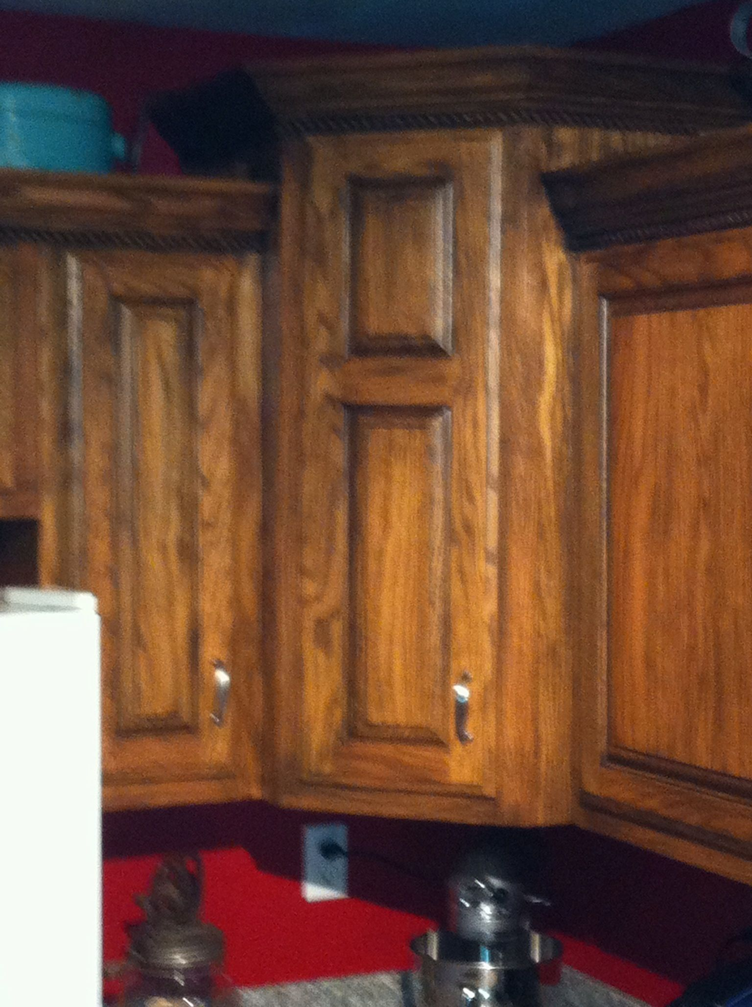 Changing My Golden Oak Cabinets Used A Black Glaze